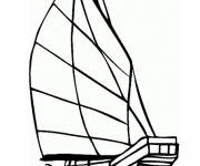Coloring pages A sailboat to decorate