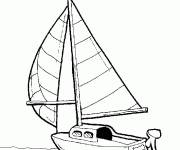 Coloring pages A small sailboat