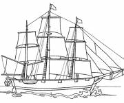 Coloring pages Antiquity sailboat