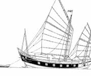 Coloring pages Luxury Sailboat