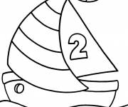 Coloring pages Maritime sport sailboat