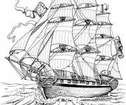 Coloring pages Old british sailboat
