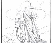 Coloring pages Old merchant sailboat