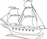 Coloring pages Old sailing ships