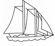 Coloring pages Sailboat for maritime transport