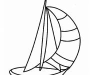 Coloring pages Sailboat to be colored