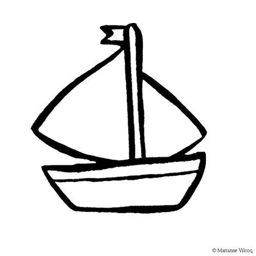 Free coloring and drawings Small boat to download Coloring page