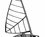 Coloring pages Sport of sailing the sailboat