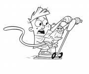 Coloring pages Cartoon Scooter