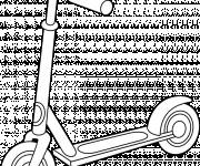 Coloring pages Colored scooter