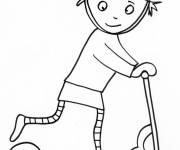 Coloring pages Freestyle scooter