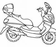 Coloring pages Color scooter
