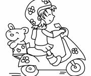 Coloring pages Scooter