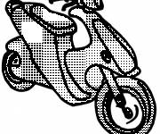 Coloring pages Cutting scooter