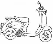 Coloring pages Easy scooter