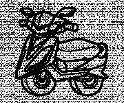 Coloring pages Illustration Scooter