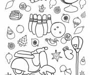 Coloring pages Scooter and Toys