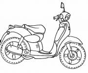 Coloring pages Simple motorcycle