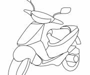 Coloring pages Stylized scooter