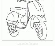 Coloring pages The pretty Vespa
