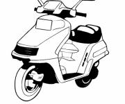 Coloring pages Vector scooter