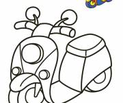Coloring pages Vespa in color