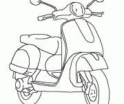 Coloring pages Vespa scooter