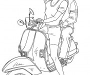Coloring pages Vespa Tuning
