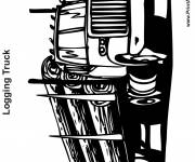 Coloring pages An American Semi Trailer Truck