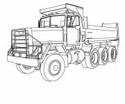 Free coloring and drawings Classic Tipper Truck Coloring page