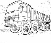 Coloring pages Mercedes Truck