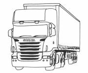 Coloring pages Semi-trailer