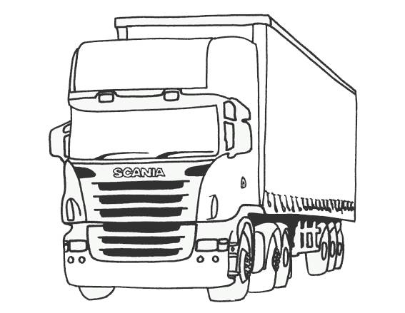 Free coloring and drawings Scania truck Coloring page