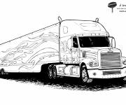 Coloring pages Semi Trailer to decorate
