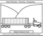 Coloring pages Semi Trailer Transport Truck