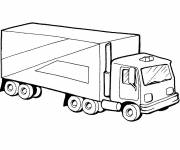 Coloring pages simple coloring trailer truck
