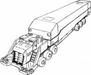 Coloring pages The trailer of a truck