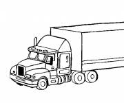 Coloring pages Tractor trailer online