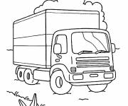 Coloring pages Truck for transportation of goods