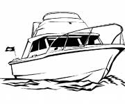Coloring pages A colored yacht