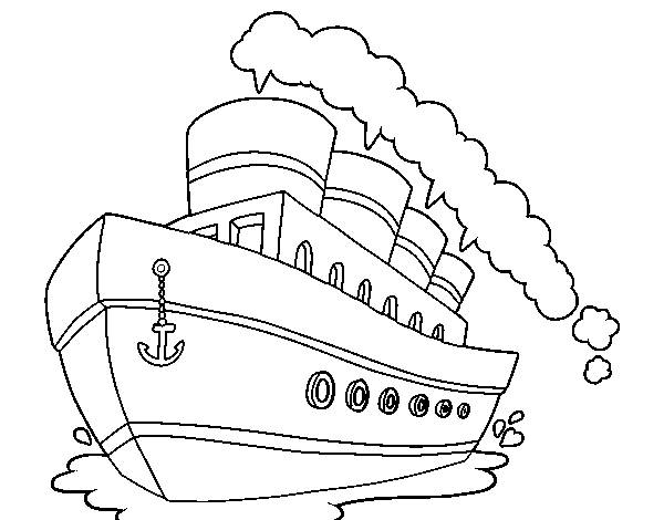 Free coloring and drawings Cartoon liner Coloring page