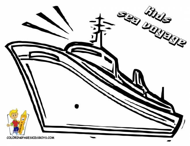 Free coloring and drawings Cruise liner to color Coloring page