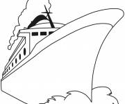 Free coloring and drawings Cruise ship coloring Coloring page