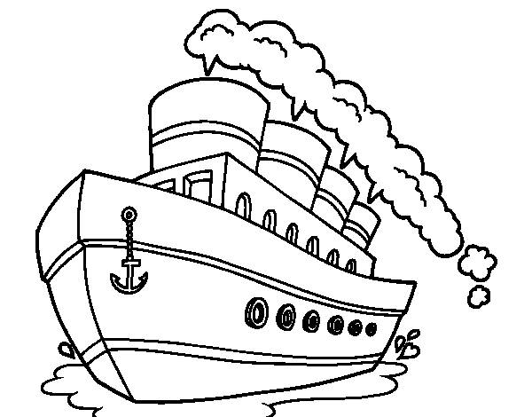 Free coloring and drawings Liner online Coloring page
