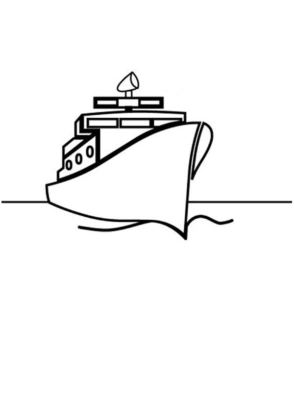 Free coloring and drawings Ocean liner Coloring page