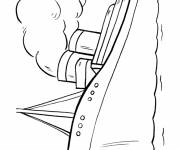 Free coloring and drawings Ocean liner and voyage Coloring page