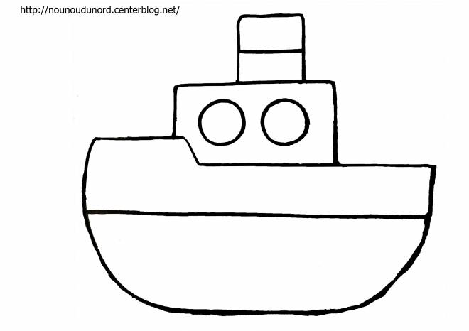 Free coloring and drawings Single boat Coloring page