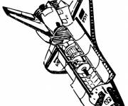 Free coloring and drawings American Space Shuttle Coloring page