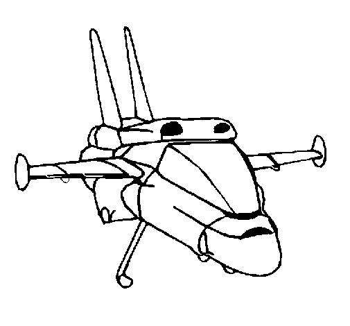 Free coloring and drawings Black and white shuttle Coloring page