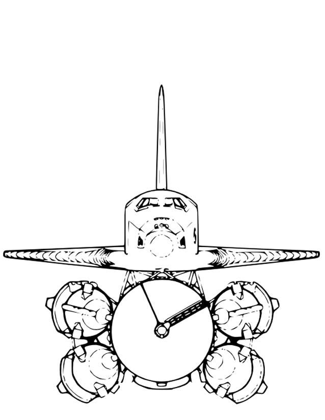 Free coloring and drawings Color Space Shuttle Coloring page